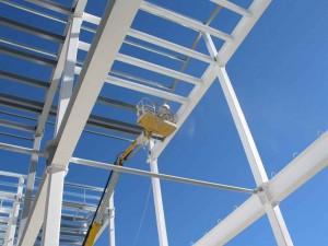 Pintura exterior para estructura de nave industrial